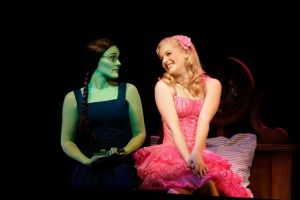 Elphaba (Jemma Rix) and Glinda (Lucy Durack) in WICKED